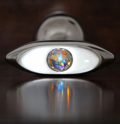 Oval Butt Plug with Swarovski Crystal