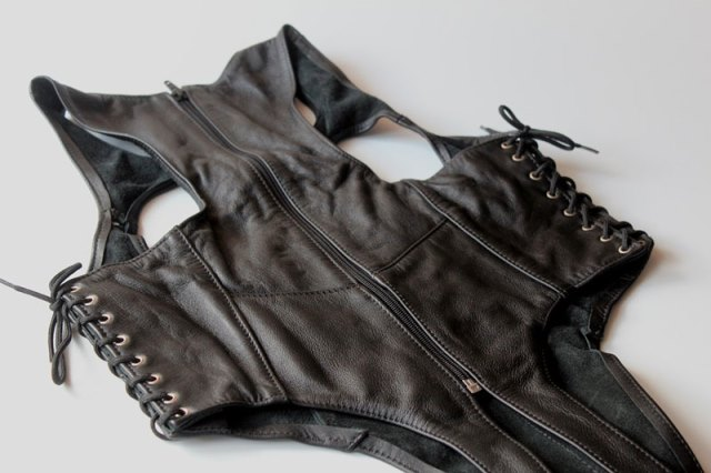 Leather Body with Open Breast