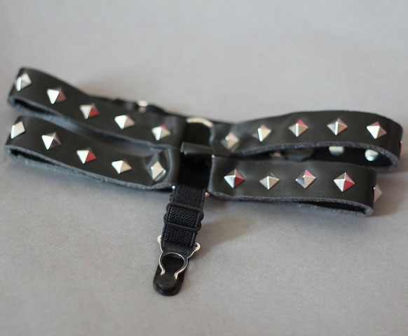 Spiked Garters with Suspenders