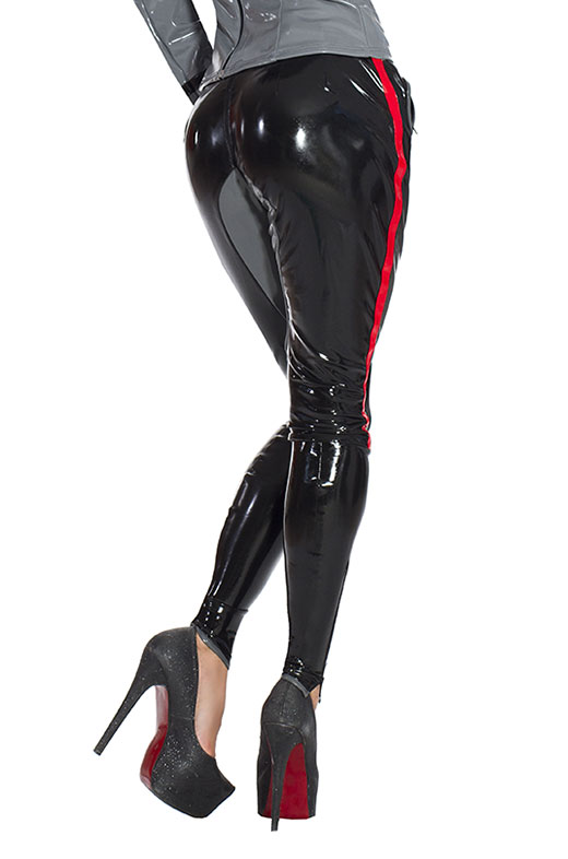 Latex Riding Breeches with Zippers