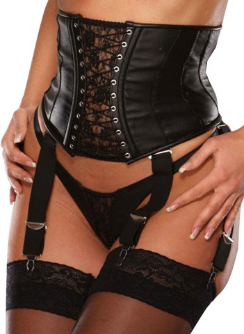 Waspie in Leather and Lace