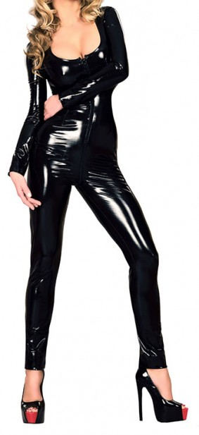 Classic Latex Catsuit with Long Sleeves