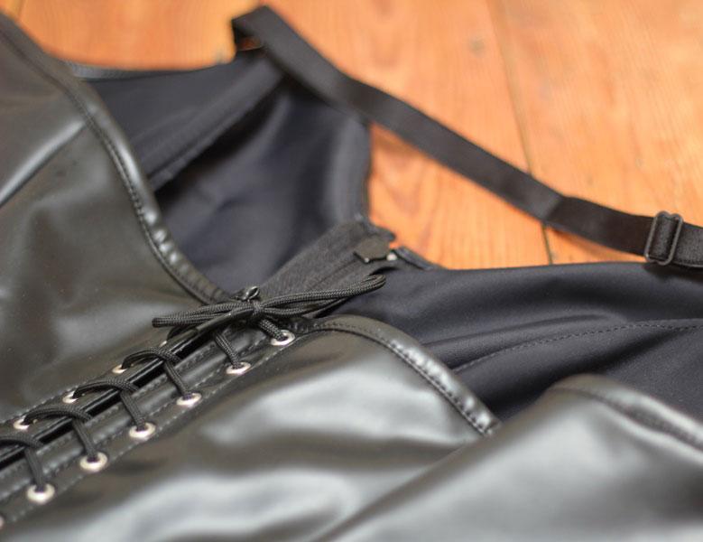 Halterneck Vintage Bodysuit in Twisted Latex