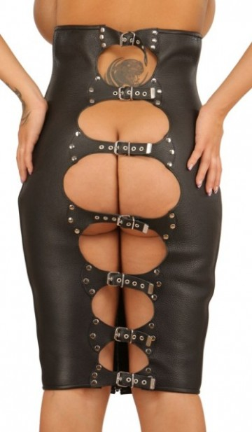 Leather Hobble Skirt