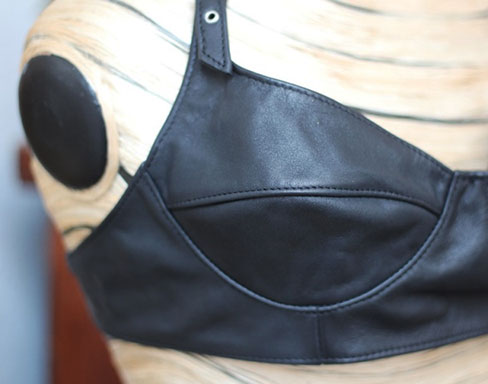 Buckled Leather Bra