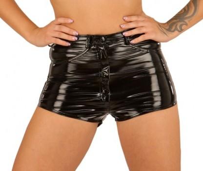 High Waist PVC Shorts