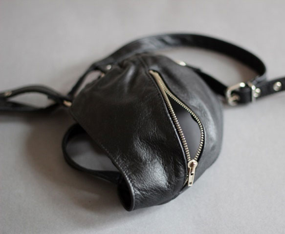 Hot Jock Strap with Zipper in Leather