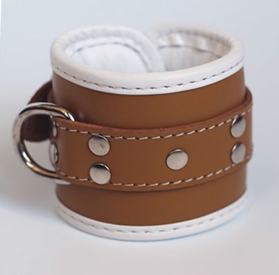 Wrist Cuffs in Bondage Leather Vintage Medical Play