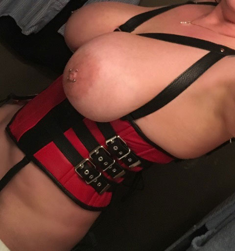 Bondage Corset with Breast Frames
