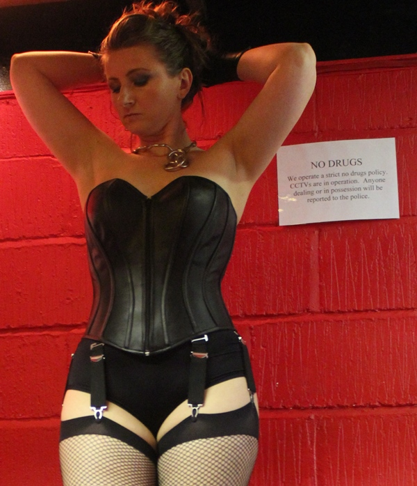 Deluxe Leather Corset with Suspenders