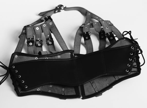 Multi Strap Leather Bondage Top