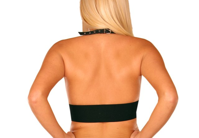 Leather Halter Top with Buckles