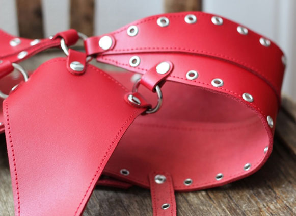 Leather Thongs with Eyelets