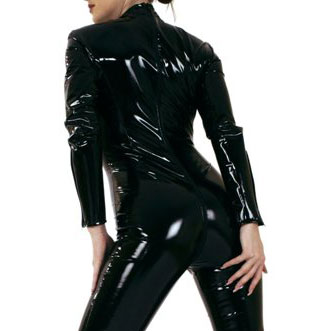PVC Catsuit with Zipper to Back
