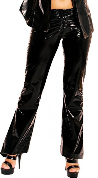 PVC Trousers with Laced Fly