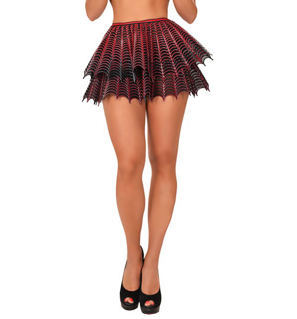 Latex on Tulle Gothic Tutu Skirt