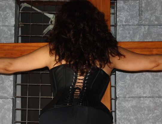 Loveheart Shaped Leather Corset