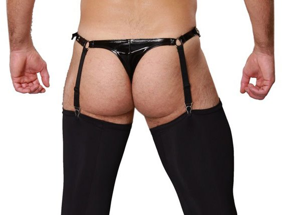 Tranny Shack PVC Panties with Suspenders