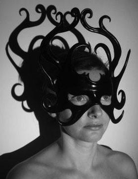 Leather Eye Mask in Tiara Style