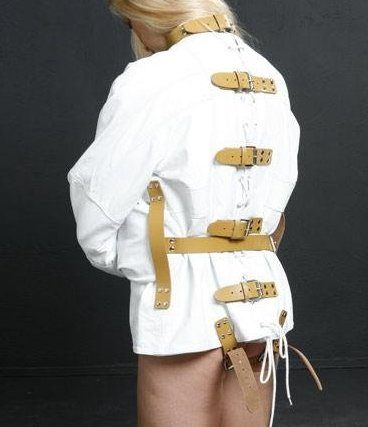 Leather Straitjacket for Medical Play