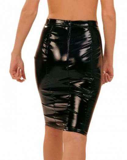PVC Pencil Skirt