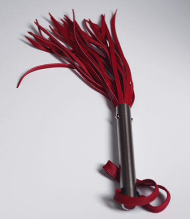 """9"""" BDSM Flogger with Steel Handle"""