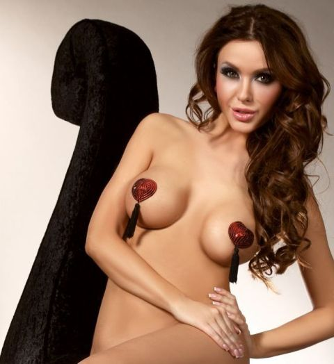 Sequinned Nipple Pasties with Tassels