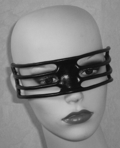 Leather Techno Eye Mask